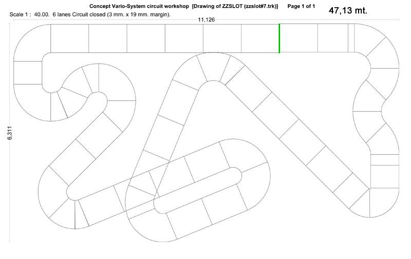 Plano del Circuito de Madera ZZSLOT