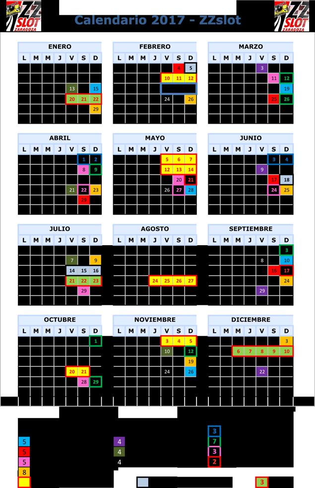 Calendario ZZSLOT 2017